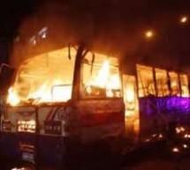 ফের রাজধানীতে যাত্রীবাহী বাসে আগুন, ১জন নিহত, ৪জন আহত