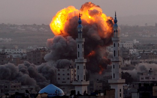 Gaza-under-attack-by-Israil