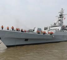 চীন থেকে নির্মিত নতুন দুটি যুদ্ধ জাহাজ দেশে এসেছে
